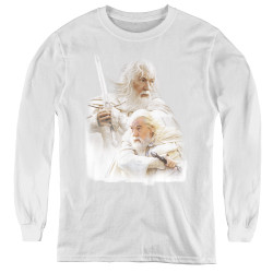 Image for Lord of the Rings Youth Long Sleeve T-Shirt -Gandalf the White