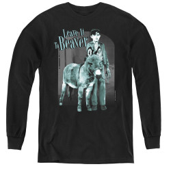 Image for Leave it to Beaver Up to Something Youth Long Sleeve T-Shirt