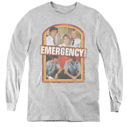 Image for Emergency! Retro Cast Youth Long Sleeve T-Shirt