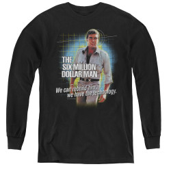 Image for Six Million Dollar Man We Have the Technology Youth Long Sleeve T-Shirt