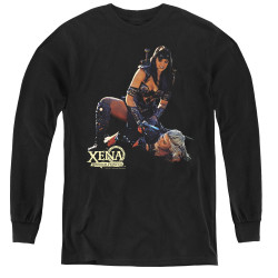 Image for Xena Warrior Princess In Control Youth Long Sleeve T-Shirt