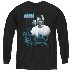 Image for Miami Vice Looking Out Youth Long Sleeve T-Shirt