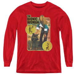 Image for The Bionic Woman Jamie and Max Youth Long Sleeve T-Shirt