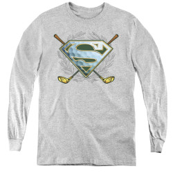 Image for Superman Youth Long Sleeve T-Shirt - Fore! Logo