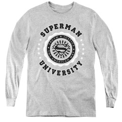 Image for Superman Youth Long Sleeve T-Shirt - University Logo