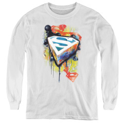 Image for Superman Youth Long Sleeve T-Shirt - Urban Shields