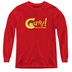 Image for Curious George Curious! Youth Long Sleeve T-Shirt