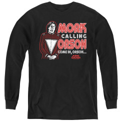 Image for Mork & Mindy Youth Long Sleeve T-Shirt - Mork Calling Orson