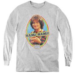 Image for Mork & Mindy Youth Long Sleeve T-Shirt - Nanu Nanu