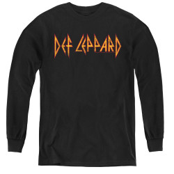 Image for Def Leppard Youth Long Sleeve T-Shirt - Horizontal Logo
