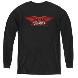 Image for Aerosmith Youth Long Sleeve T-Shirt - Winged Logo