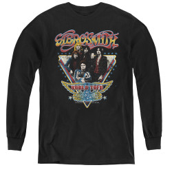 Image for Aerosmith Youth Long Sleeve T-Shirt - Triangle Stars