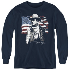 Image for John Wayne Youth Long Sleeve T-Shirt - American Idol