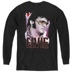 Image for Elvis Youth Long Sleeve T-Shirt - 70s Star