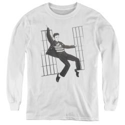Image for Elvis Youth Long Sleeve T-Shirt - Jailhouse