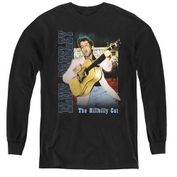 Image for Elvis Youth Long Sleeve T-Shirt - Memphis Cat