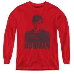 Image for Bates Motel Youth Long Sleeve T-Shirt - Norman