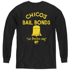 Image for Bad News Bears Youth Long Sleeve T-Shirt - Chico's Bail Bonds