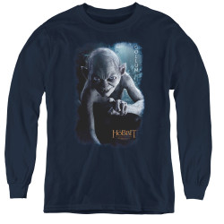 Image for The Hobbit Youth Long Sleeve T-Shirt - Gollum Poster