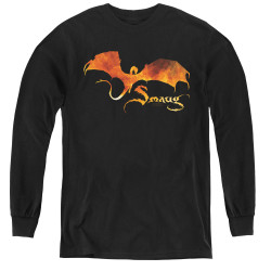 Image for The Hobbit Youth Long Sleeve T-Shirt - Smaug on Fire