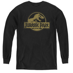 Image for Jurassic Park Youth Long Sleeve T-Shirt - Distressed Logo