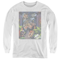 Image for Jurassic Park Youth Long Sleeve T-Shirt - Giant Door