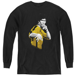Image for Bruce Lee Youth Long Sleeve T-Shirt - Suit of Death