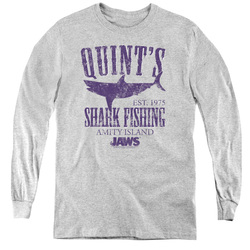 Image for Jaws Youth Long Sleeve T-Shirt - Quints