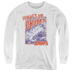 Image for Jaws Youth Long Sleeve T-Shirt - Chum