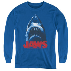 Image for Jaws Youth Long Sleeve T-Shirt - From Below