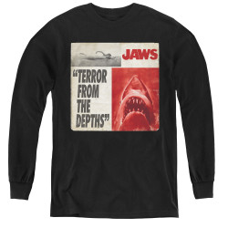 Image for Jaws Youth Long Sleeve T-Shirt - Terror