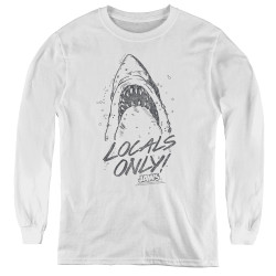 Image for Jaws Youth Long Sleeve T-Shirt - Locals Only