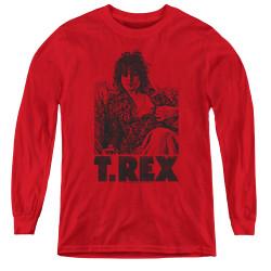 Image for T Rex Youth Long Sleeve T-Shirt - Lounging