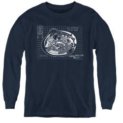 Image for Star Trek Youth Long Sleeve T-Shirt - Bridge Blueprints