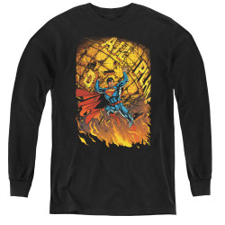 Image for Superman Youth Long Sleeve T-Shirt - Daily Planet Save