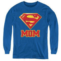 Image for Superman Youth Long Sleeve T-Shirt - Super Mom