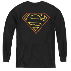 Image for Superman Youth Long Sleeve T-Shirt - Colored Shield