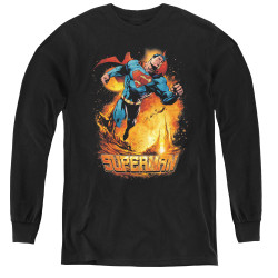 Image for Superman Youth Long Sleeve T-Shirt - Space Case