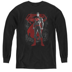 Image for Superman Youth Long Sleeve T-Shirt - Aftermath