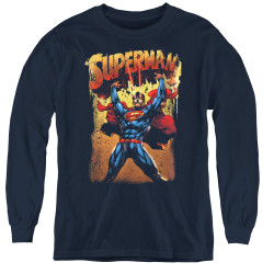 Image for Superman Youth Long Sleeve T-Shirt - Lift Up