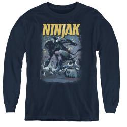 Image for Ninjak Youth Long Sleeve T-Shirt - Rainy Night