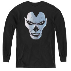 Image for Shadowman Youth Long Sleeve T-Shirt - Comic Face