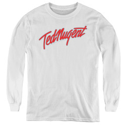 Image for Ted Nugent Youth Long Sleeve T-Shirt - Clean Logo