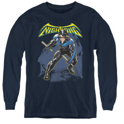 Image for Batman Youth Long Sleeve T-Shirt - Nightwing