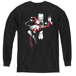 Image for Batman Youth Long Sleeve T-Shirt - Harley And Joker