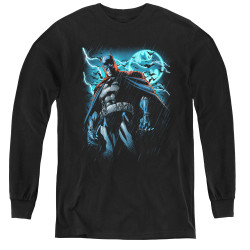 Image for Batman Youth Long Sleeve T-Shirt - Stormy Knight