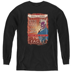 Image for Batman Youth Long Sleeve T-Shirt - Two Faces