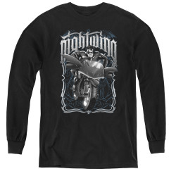 Image for Batman Youth Long Sleeve T-Shirt - Nightwing Biker