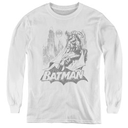 Image for Batman Youth Long Sleeve T-Shirt - Bat Sketch