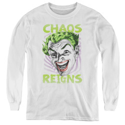 Image for Batman Classic TV Youth Long Sleeve T-Shirt - Chaos Reigns